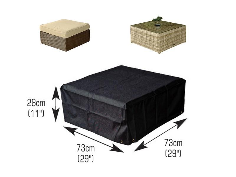 Funda mesa de jardin de centro 73x73x28cm for Fundas para mesas de jardin