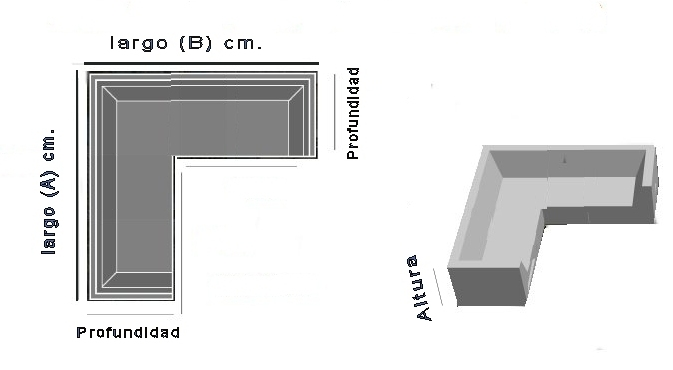 Funda para sof de exterior modular en l a medida for Medidas de muebles para oficina