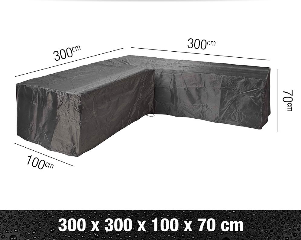 c84e4eb1 Funda para conjunto de sofás de jardín en forma de L de 300 x 300
